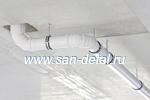 Монтаж под потолком на шпильках