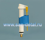 """Клапан залива нижний 3/8"""" телескопический с латунным штуцером"""