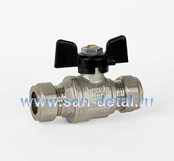 Кран компрессионный для медной трубы 15 мм