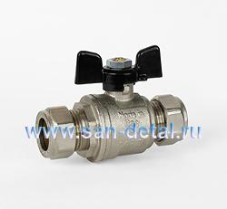 Кран компрессионный для медной трубы 18 мм