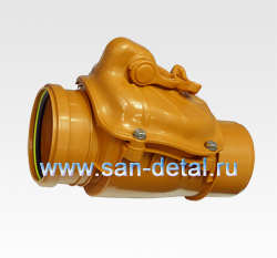Обратный клапан 110 ø с принудительным перекрытием, универсальный