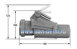 Обратный клапан 50 ø с принудительным перекрытием потока