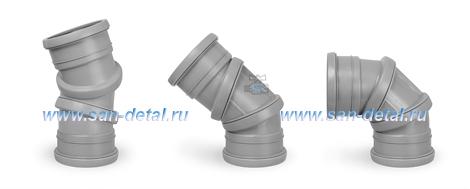 Отвод 110 ø с регулируемым углом 0-90° двухраструбный