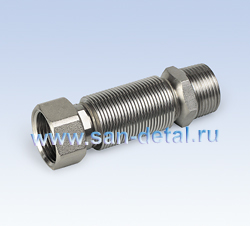 """Сильфонная подводка 65-125 мм 3/4"""" вр-нр"""