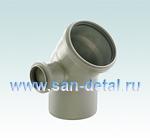 Угол 110 мм 45° с отводом 50 ø левосторонний