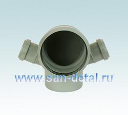 Угол 110 мм с отводами 50 ø двухсторонний