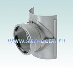 Врезка 90 ø в канализацию 100-110 мм