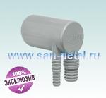 Угловой переходник 40 ø со штуцерами 8-10/15-19 мм для слива